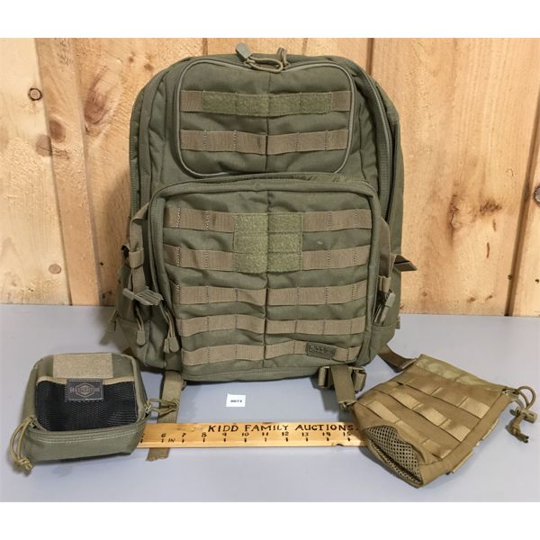 5.11 BRAND BACK PACK & ACCESSORIES BAGS - AS NEW