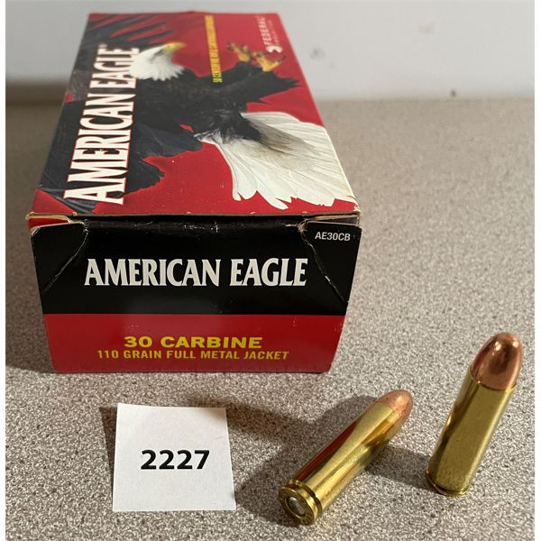 AMMO: 50 x AM. EAGLE, 30 CARBINE