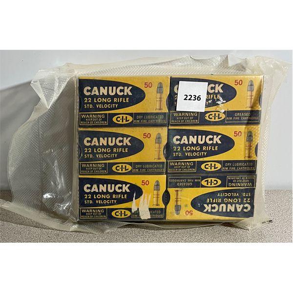 AMMO: 300 x CIL CANUCK 22 LR