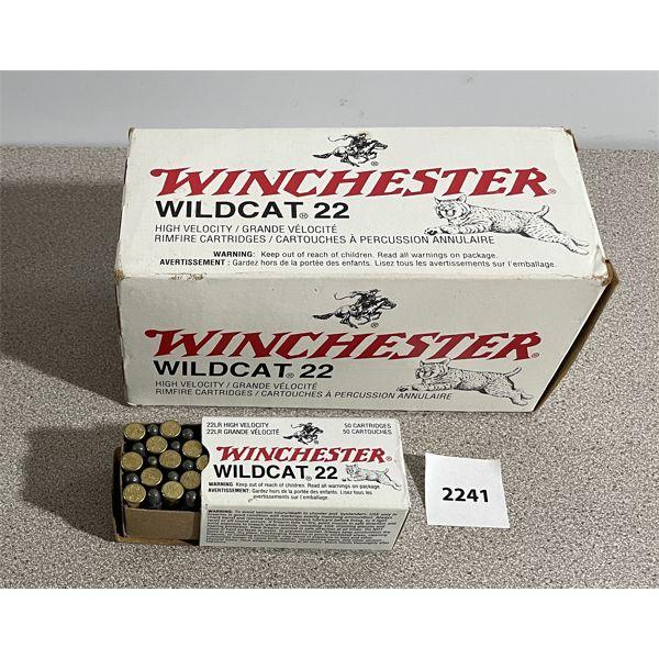 AMMO: 500 x WINCHESTER WILDCAT 22 LR