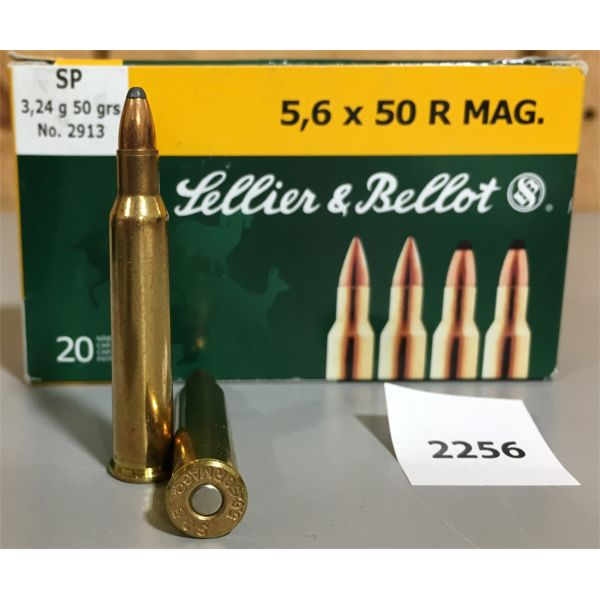 AMMO: 20 x 5.6x50R MAG - SELLIER & BELLOT