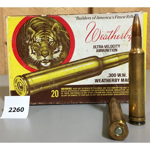 AMMO: 20 x 300 WEATHERBY MAG