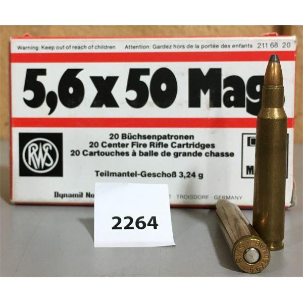AMMO: 5.6 x 50 MAG - RWS