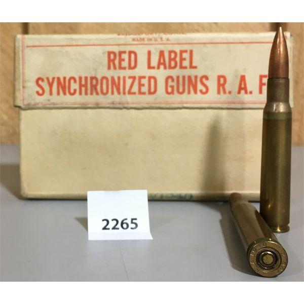 AMMO: 20 x CAL 300 CARTRIDGES FOR SYCRHONIZED GUNS R.A.F.