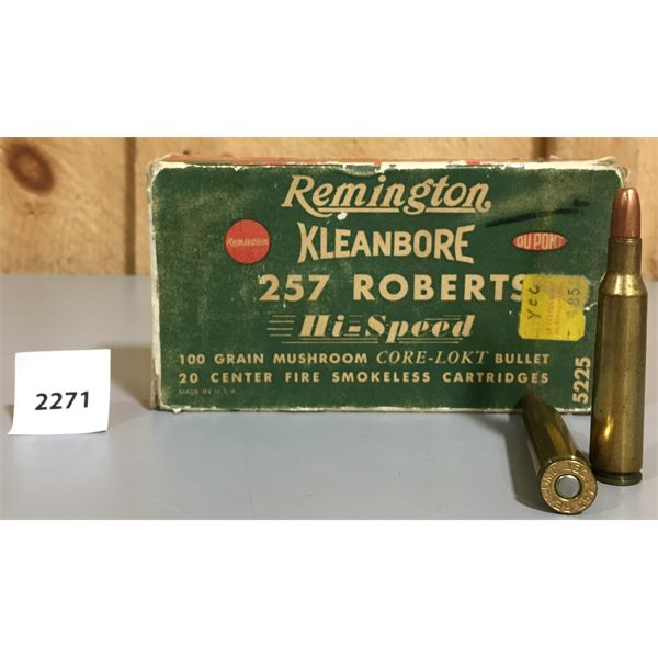 AMMO: 15 X 257 ROBERTS - REMINGTON KLEANBORE
