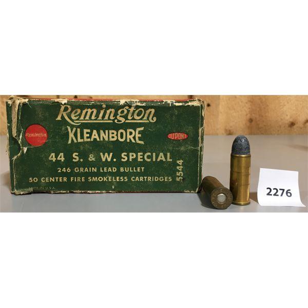 AMMO: 44 x 44 SPECIAL REMINGTON KLEANBORE