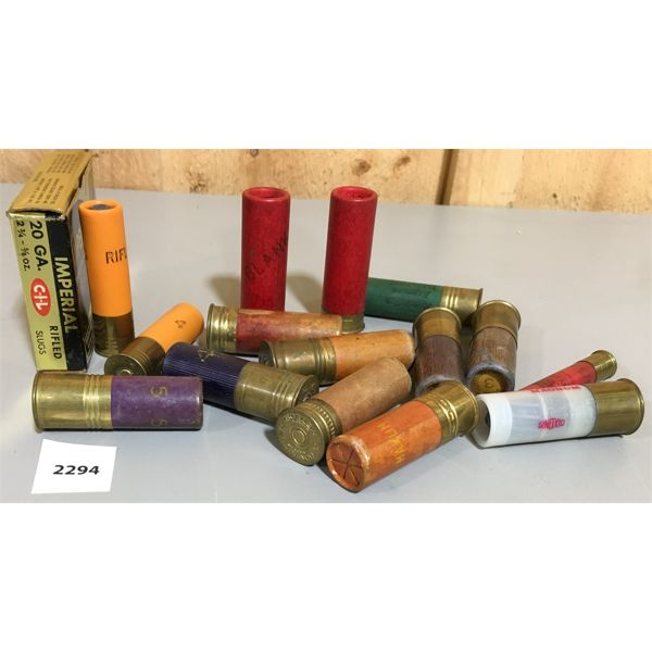 AMMO: 18 x VARIOUS GAUGES AND MAKES INCL. CIL IMPERIAL BOX W/ 4 SLUGS