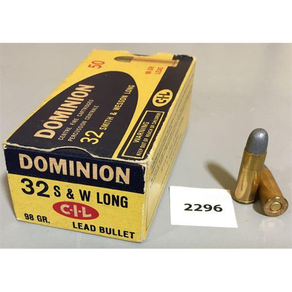 AMMO: 50 x 32 S&W LONG - DOMINION CIL