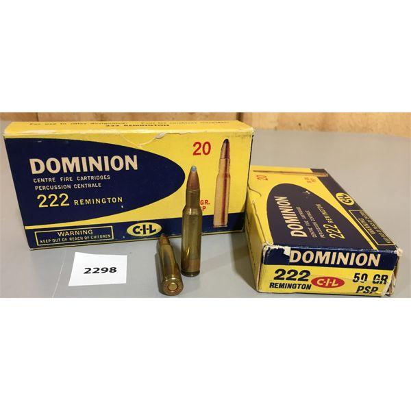 AMMO: 40 x 222 REMINGTON - CIL DOMINION