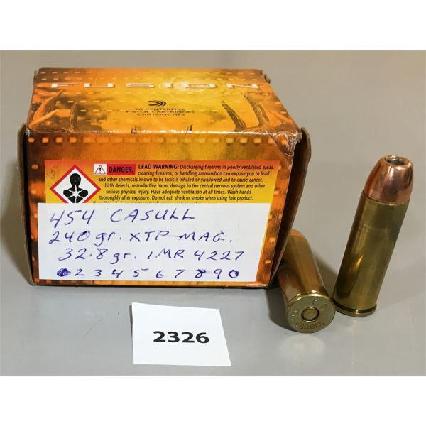 AMMO: 20 x 454 CASULL - RELOADS