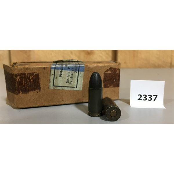 AMMO: 12 x 9MM LUGER 1943 NAZI