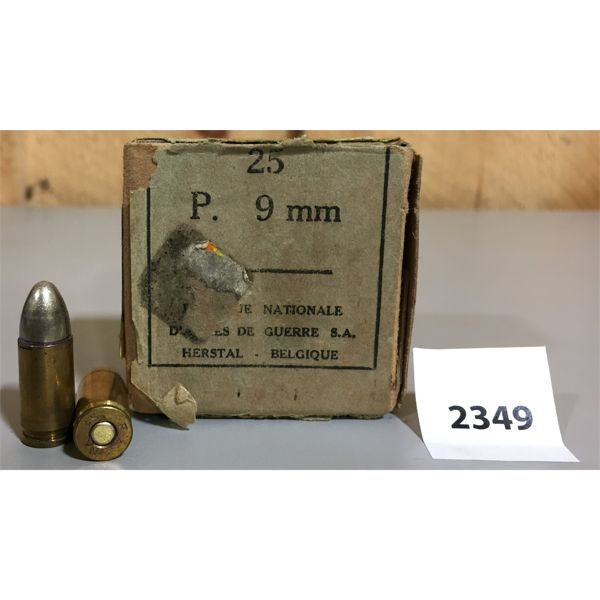 AMMO: 22 x 9MM LUGER FMJ