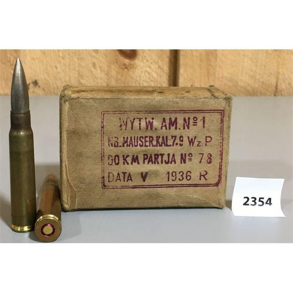 AMMO:  12 x 7.92X57 1933