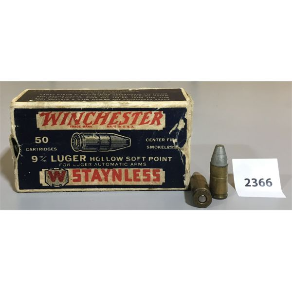 AMMO: 38 x 9MM LUGER HP
