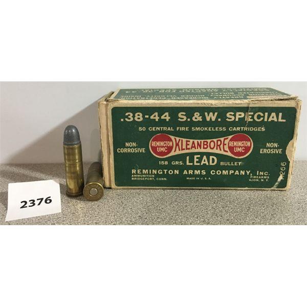 AMMO: 23X REMINGTON 38-44 S&W SPL RN