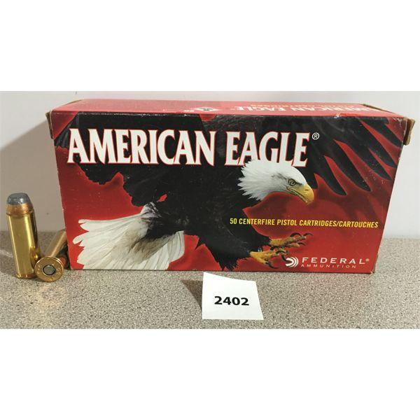 AMMO: 50X AMERICAN EAGLE 45 COLT 225GR JSP