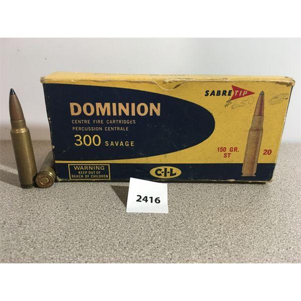 AMMO: 16X CIL 300 SAVAGE 150GR ST