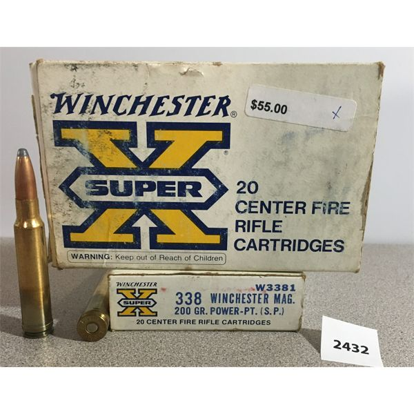 AMMO: 39X WINCHESTER 338 WIN MAG 200GR SP