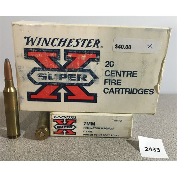 AMMO: 40X WINCHESTER 7MM REM MAG 175GR PP