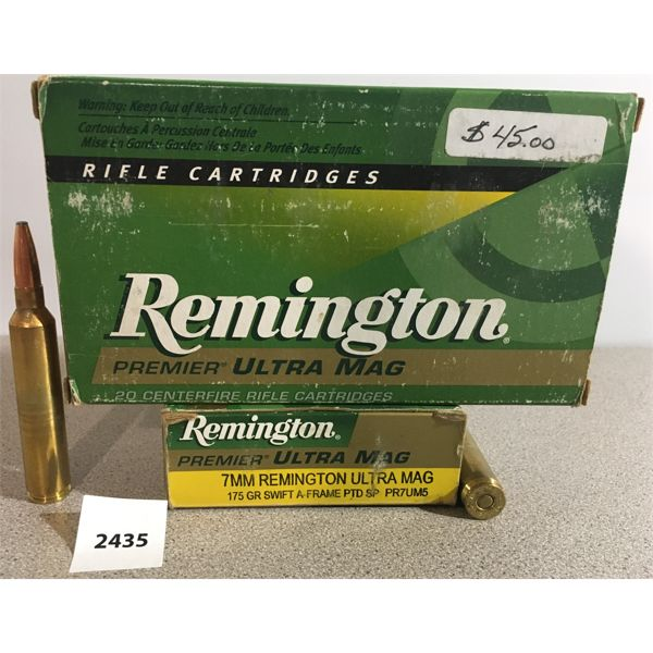 AMMO: 37X REMINGTON 7MM REM ULTRA MAG 175GR SP