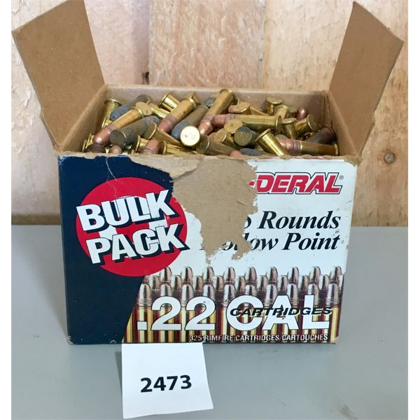 AMMO: APPROX 325X FEDERAL 22 LR MIXED