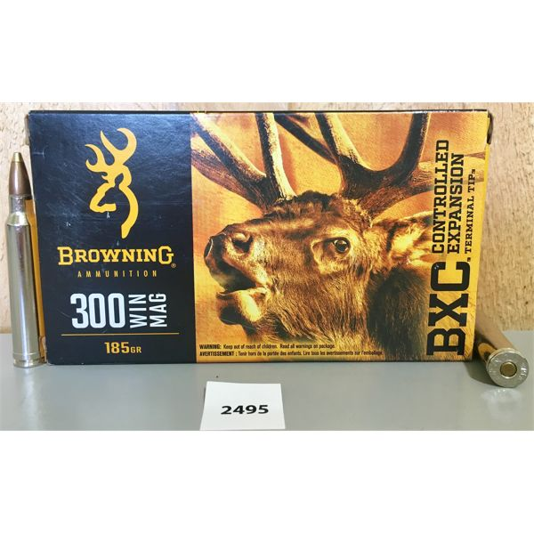 AMMO: 20X BROWNING 300 WIN MAG 185GR