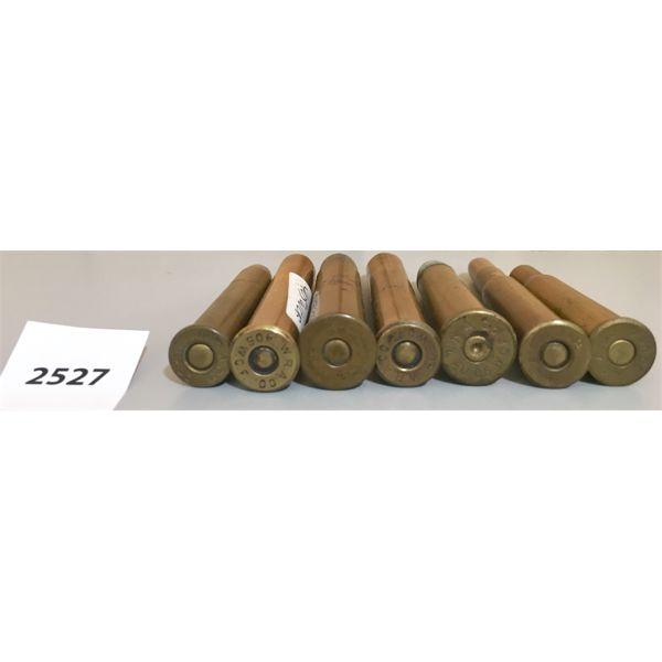 AMMO: 7X MIXED CAL W.R.A HEADSTAMP LARGE BORE RIFLE AMMO