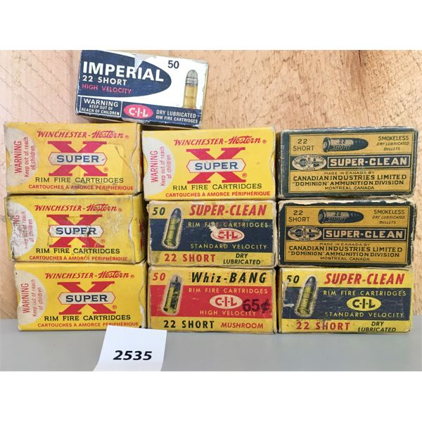 AMMO: 500X 22 SHORT MIXED BRANDS VINTAGE