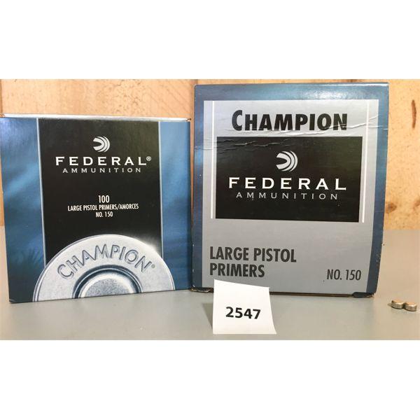 PRIMERS: 1000X FEDERAL LARGE PISTOL