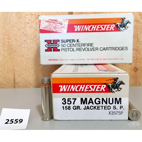 AMMO: 100X WINCHESTER 357 MAG 158GR JSP