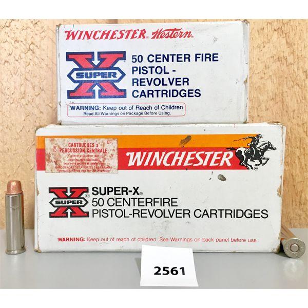 AMMO: 100 X WINCHESTER 357 MAG 158GR LEAD SWC
