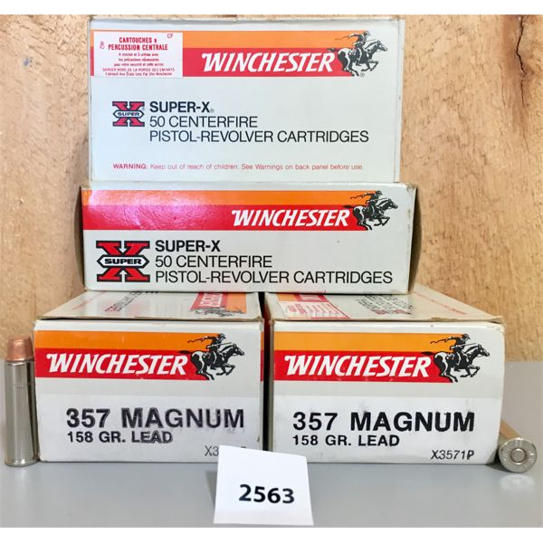 AMMO: 200X WINCHESTER 357 MAG 158GR LEAD SWC