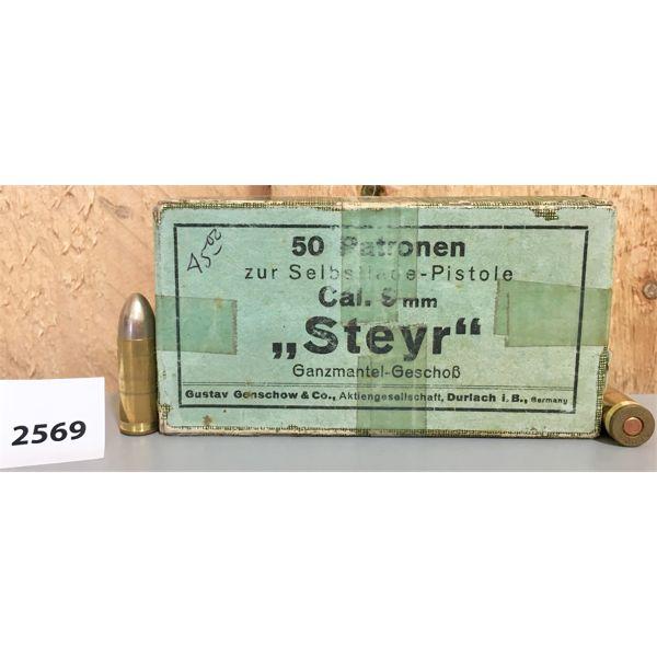 AMMO: 50X 9MM STEYR