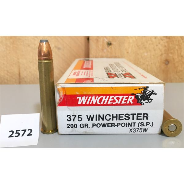 AMMO: 20X WINCHESTER 375 WIN 200GR SP