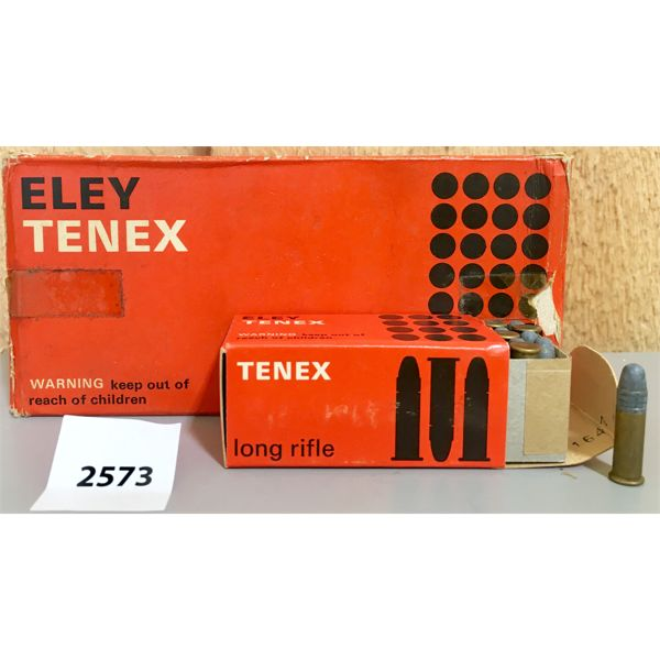 AMMO: 500X 22LR ELEY TENEX