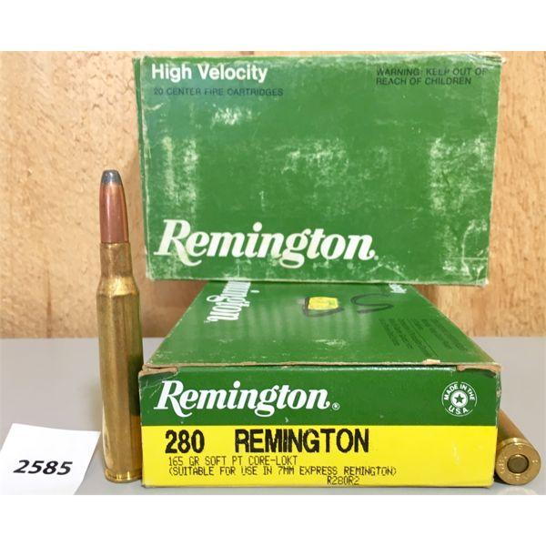 AMMO: 38X REMINGTON 280 REM 165GR SP
