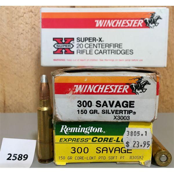 AMMO: 60X 300 SAVAGE 150GR SP