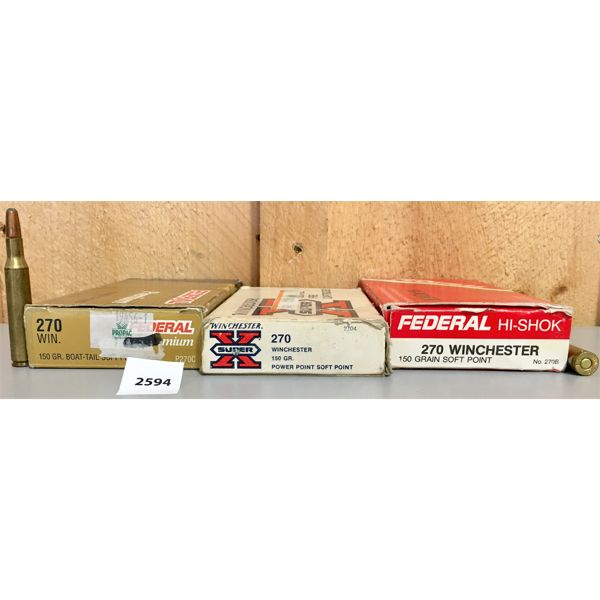 AMMO: 60X 270 WINCHESTER 150GR SP