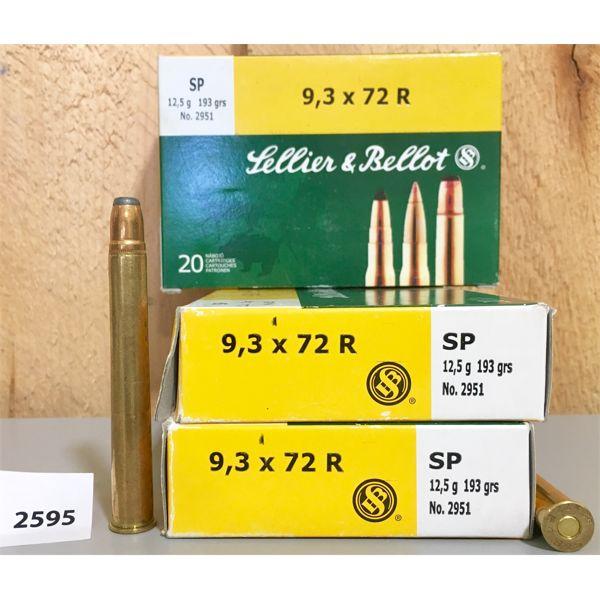 AMMO: 60X S&B 9.3 X 72R 193GR SP