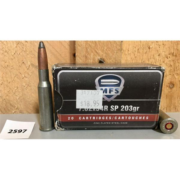 AMMO: 20X MFS 7.62 X 54R 203GR SP