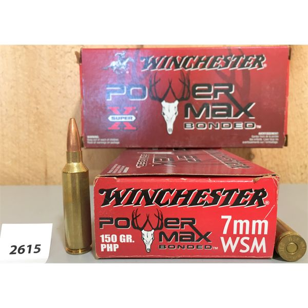 AMMO: 40X WINCHESTER 7MM WSM 150GR PHP