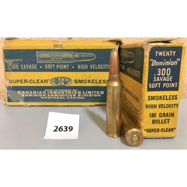 AMMO: 40X CIL 300 SAVAGE 180GR SP