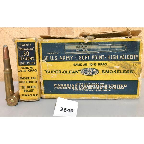 AMMO: 40X CIL 30-40 KREG 220GR SP