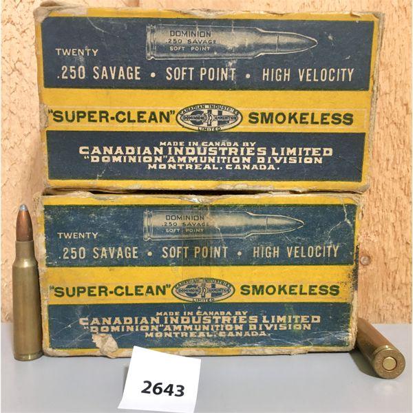 AMMO: 40X CIL 250 SAV 100GR SP