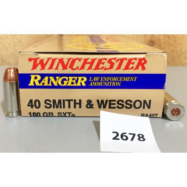 AMMO: 50X WINCHESTER 40 S&W 180GR HP