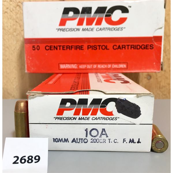 AMMO: 24X LIVE & 26X BRASS PMC 10MM 200GR