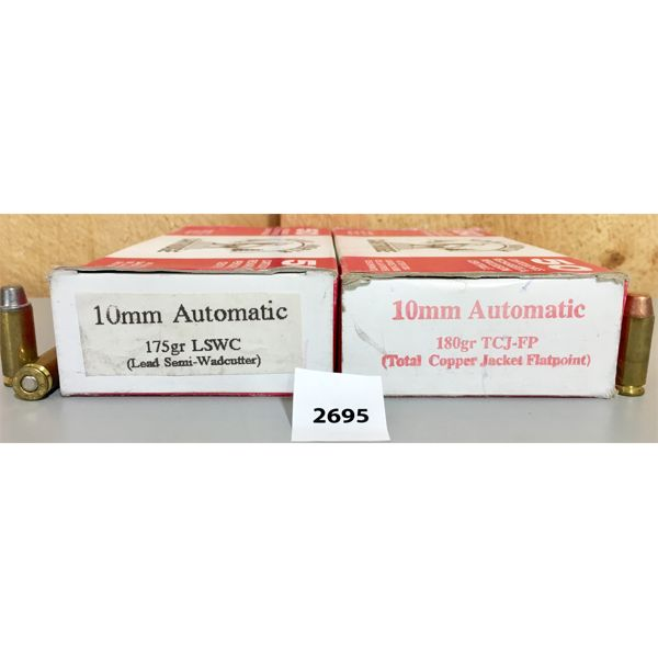 AMMO: 100X 10MM 175GR LSWC & 180GR FMJ