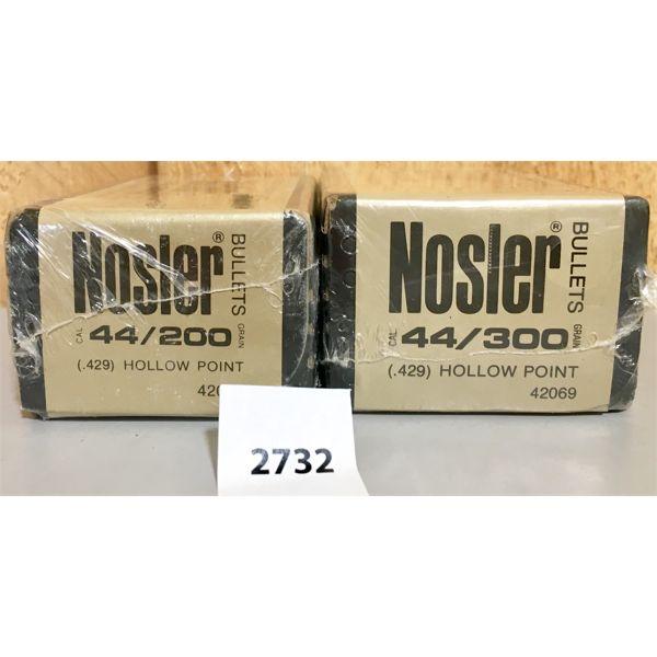BULLETS: 200X NOSLER 44 CAL 200GR & 300GR