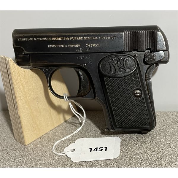 BROWNING MODEL 1905 BABY IN 6.35 - PROHIB CLASS