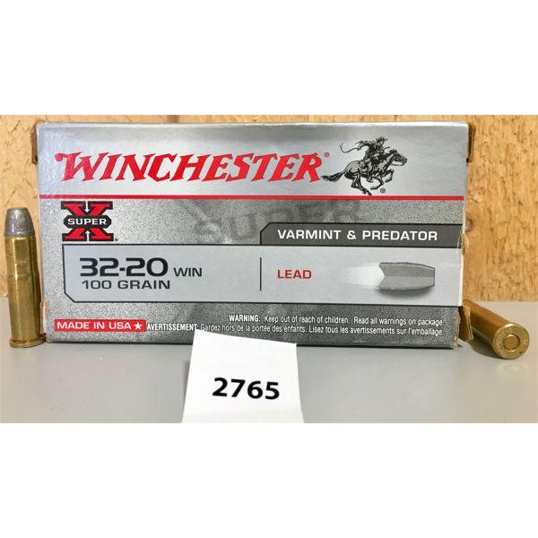 AMMO: 49X WINCHESTER 32-20 WIN 100GR LEAD